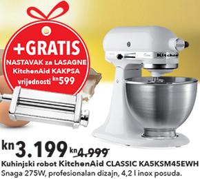 Kuhinjski robot KITCHENAID KA5KSM45EWH