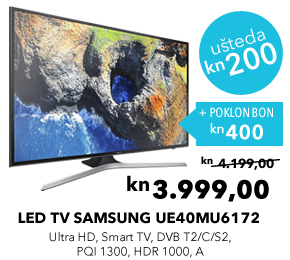 Ultra HD LED TV SAMSUNG UE40MU6172UXXH