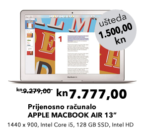 Prijenosno računalo APPLE MACBOOK AIR